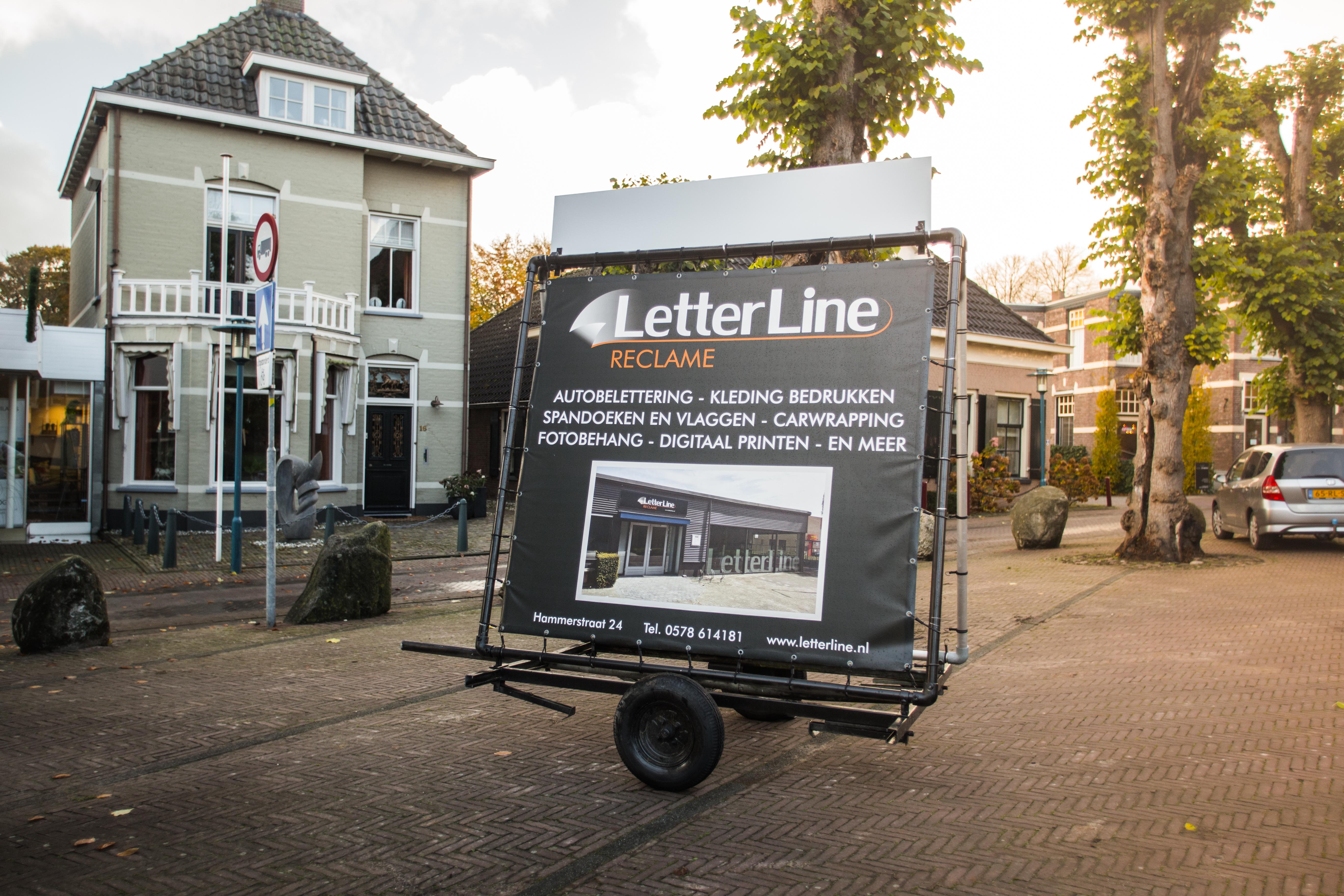 Letterline - epe - reclame - letterline reclame - aanhangwagen -reclameaanhangwagen