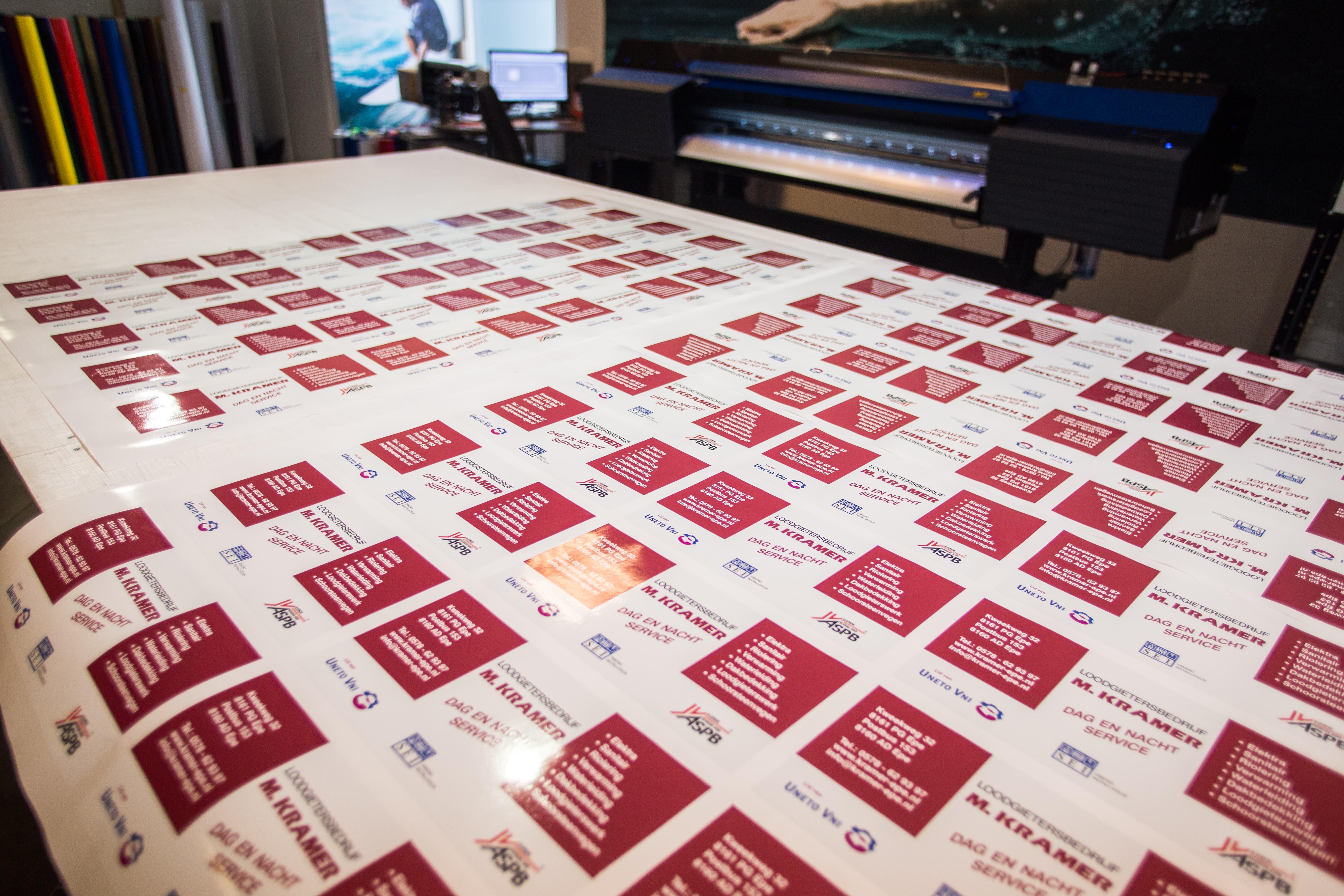 Letterline Reclame Epe | stickers - stickers maken - promotiestickers