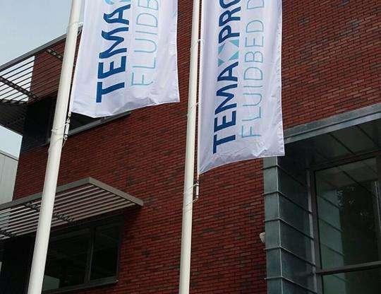 Nieuwe vlaggen voor Tema Process