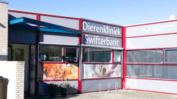 Glasfolie dierenkliniek Swifterbant